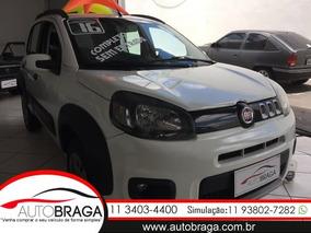 Fiat Uno 1.0 Evo Way 8v Flex Zero De Entrada - Autobraga