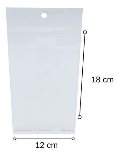 1000 Saquinhos Autocolante Bopp Com Furo - 12x18 Cm