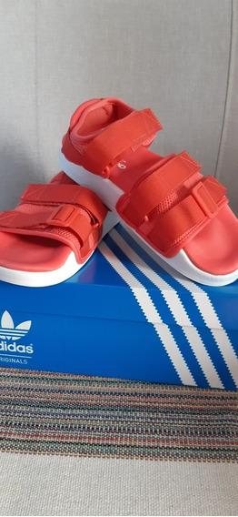 Adilete Sandal 2.0 Roja N° 37.5 Impecables Estado Original