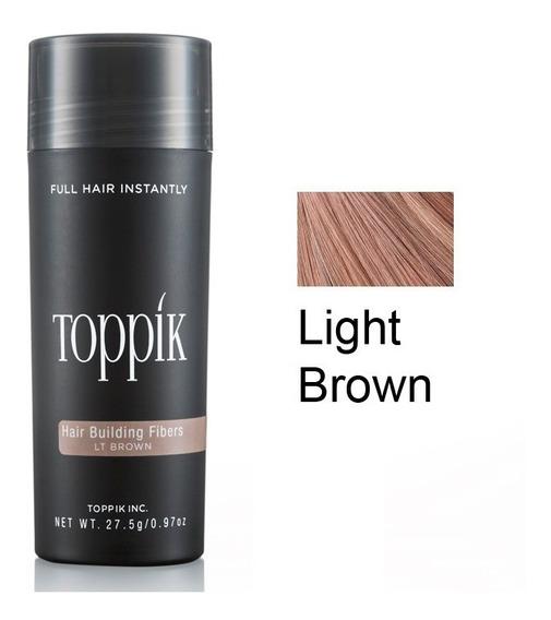 Toppik Hair 27,5 Castanho Claro Fibra Queratina Pro. Entrega