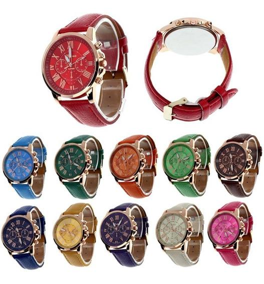 Lote De 10 Reloj, Relojes Geneva Unisex Original Msi