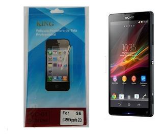Kit 10 Peliculas Protetora De Tela Sony Xperia Zq C6503 C6502 C6505 C6506 L35h - Frente+flanela - Invisível / Plástico