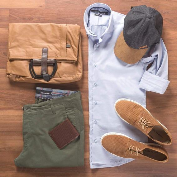 Camisas Slim Fit, Pantalon Borg Verde