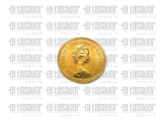 Moneda Oro 22 K Libra Esterlina *joyeriaeltasador*