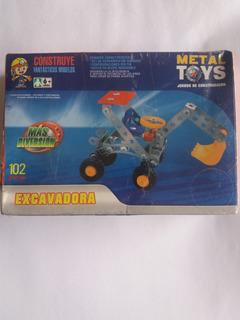 Juego De Construcción Metal Toys Excavadora.