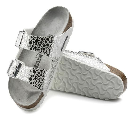 Arizona Metallic S. Silver Birkenstock 100% Original