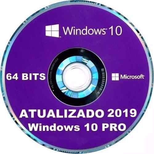 Cd Dvd Instalação E Formatação Windows Pro 10 64 Bits 2019