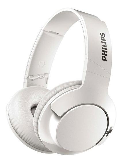 Fone De Ouvido Sem Fio Philips Bass+ Haste Dobrável Branco
