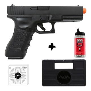 Pistola Airsoft Gbb Glock R18 Metal Blowback Automática 6mm