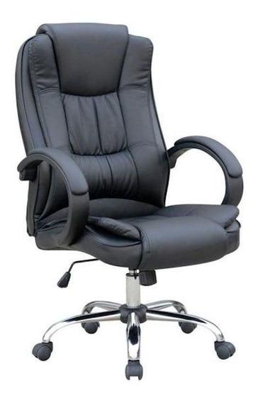 Cadeira de escritório Pelegrin 2043 ergonômica preta con estofado do couro sintético
