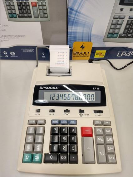 Calculadora Com Bobina Procalc Lp45 Bivolt 12 Dígitos