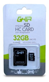 Tarjeta De Memoria 32gb Micro Sd Clase 10 Con Ad Ghia