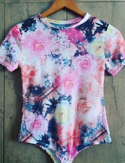 Body Tule Estampado Floral Verão 2019 Bori Bory Lançame