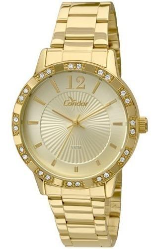 Relógio Condor Feminino Dourado Co2035kmn