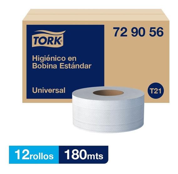 Tork Higienico En Bobina Universal Hd 12 Rollos / 180 Mts