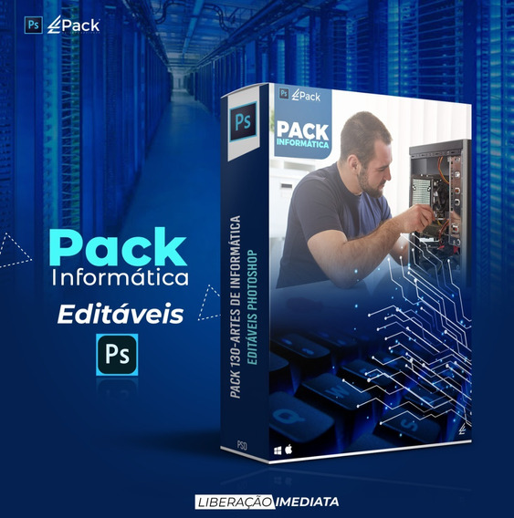 Pack 130-artes De Informática Editáveis Photoshop