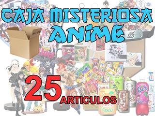 Caja Misterio De Anime Figuras,manga,poster,pines Y Mas, 25u