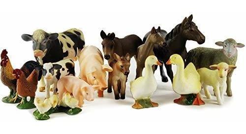Juego De Boley De 15 Piezas Para Animales De Granja, Con Dif