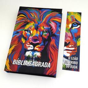 Bíblia Leão Colorido Ntlh + Marca Página Grátis