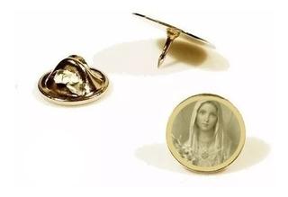 Pin, Botton ,broche Folheado A Ouro Sagrado Coração De Maria