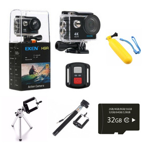Câmera Eken H9r Controle Bike 4k Wifi + Bastão + Cartão 32gb