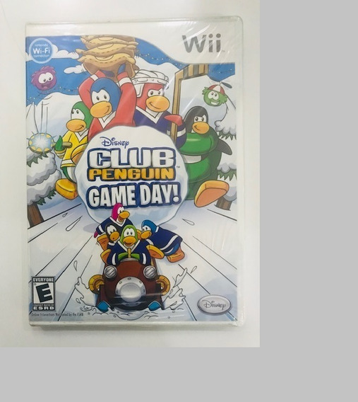 Jogo Lacrado Midia Fisica Club Penguin Game Day Nintendo Wii