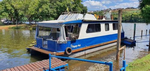 Vendo Ou Troco House Boat Lancha Barco 36 Pés 4t Yamaha