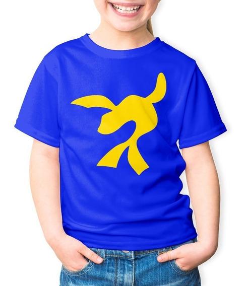 Camiseta Infantil Super Foca Lucas Neto 100% Algodão Azul
