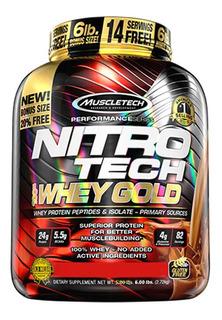Nitro Tech Gold 2.5kg - Muscletech - 5g Bcaa + 4g Glutamina
