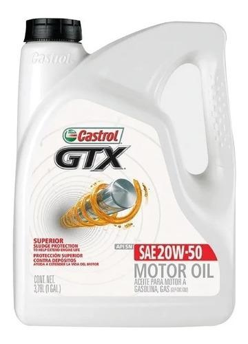 Imagen 1 de 4 de Aceite Castrol Gtx 20w 50 X 1 Galón (3,78 Lts) + Obsequio!