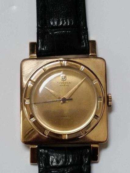 Relógio Universal Todo Em Ouro 18k 750 Automático