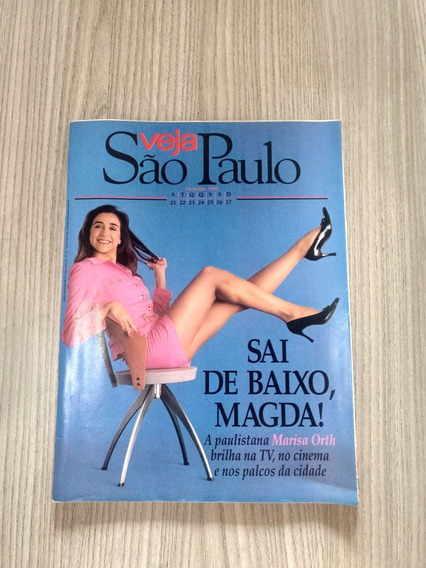 Revista Veja São Paulo 43 Marisa Orth Sai De Baixo Y523