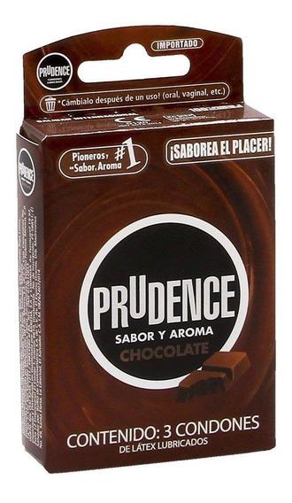 Condones Prudence Sabor Aroma Chocolate 3 Piezas - S005