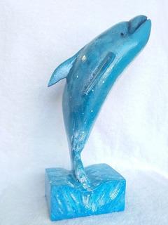 Delfín Tallado En Madera
