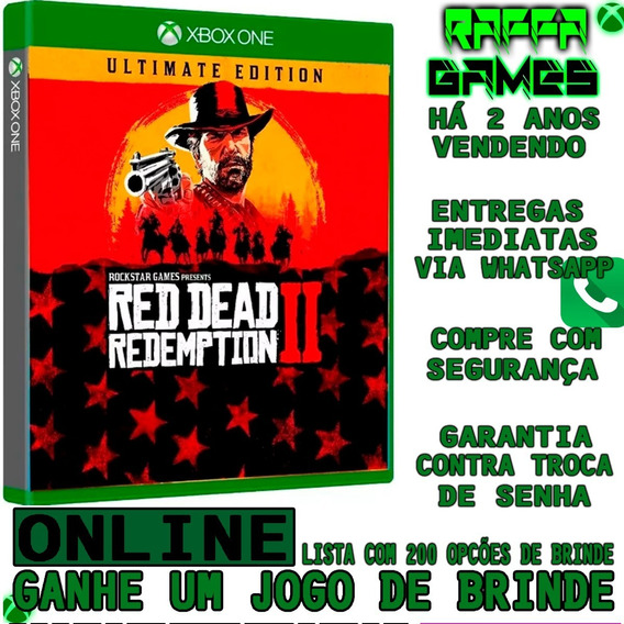 Red Dead Redemption 2 Ultimate Ed. Xbox One Online + Brinde