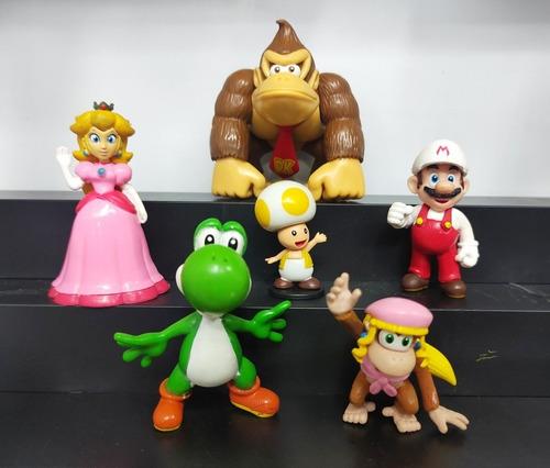 Colección 6 Figuras Personajes Mario Bros 6cm Sin Caja