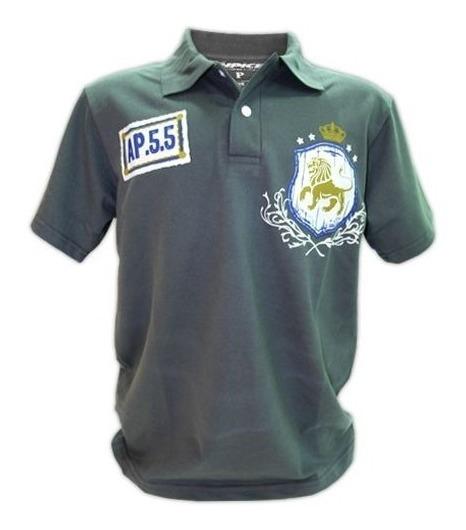 Leão - Cp126 ( Camisa Polo ) Estampa Em Flocagem & Mix-