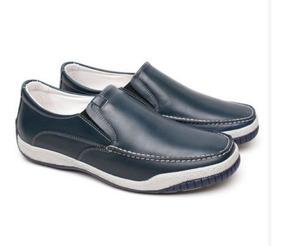 Sapatênis Masculino Tênis Casual Sapato Total Conforto Couro