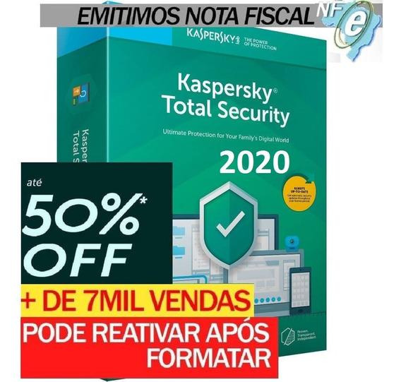 Kaspersky Total Security 3 Disp. 2 Anos Entrega Em 30min