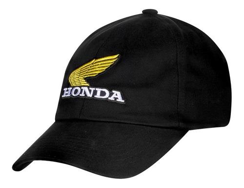 Boné Moto Honda - Bordado - Preto - Coleção Vintage