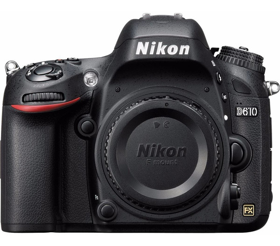 Câmera Dslr Nikon D610 Corpo Nota Fiscal 2 Anos De Garantia