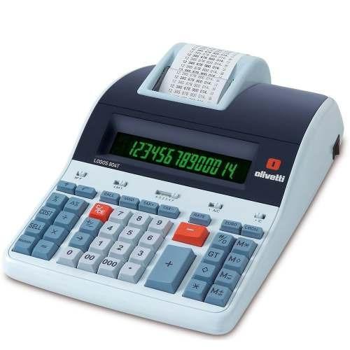 Calculadora Mesa Olivetti Logos 804t Dígitos De Térmica 14