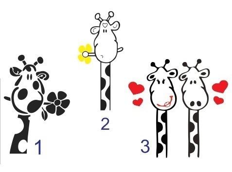 Adesivo Girafa - Geladeira, Armários,freezer...