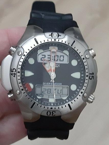 Relogio Citizen Aqualand Jp-1060 Com 2 Pulseiras