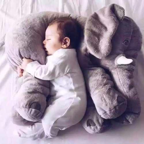 Elefante Almofada Travesseiro Pelúcia 60 Cm - Pronta Entrega