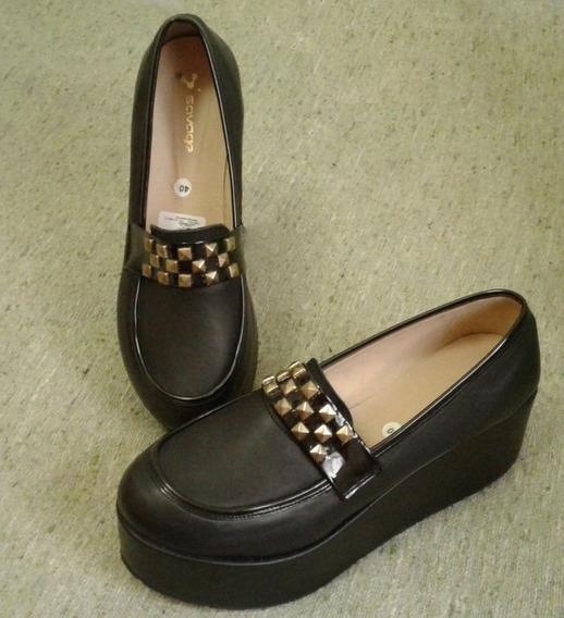 Zapatos Con Plataforma. Único Par. Un Solo Uso Talle 40