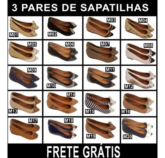 Kit 03 Pares Sapatilhas Por R$129,9 - Frete Grátis + Brinde