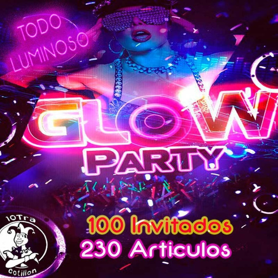 Combo Cotillón Luminoso 100 Invitados Con Corona Led 230