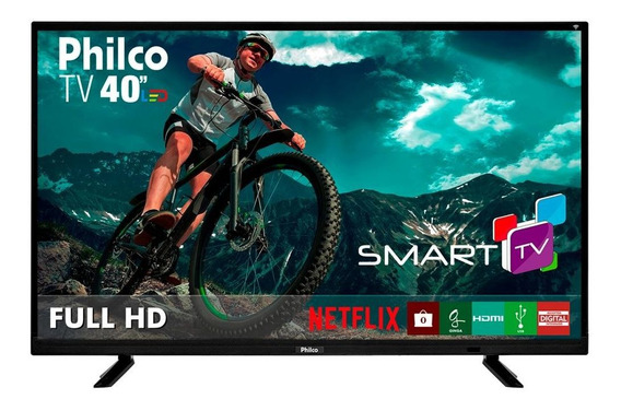 Tv Smart Led Preto Philco 40 Bivolt Ptv40e21dswn