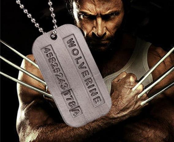 Colar Corrente De Aço Masculino Militar Wolverine X-man Dog Tag